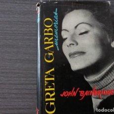Libros antiguos: GRETA GARBO,, MEMORIAS, POR JOHN BAINBRIDGE. Lote 198091987