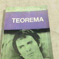 Libros antiguos: TEOREMA, LIBRO DE LA PELÍCULA DE PIER PAOLO PASOLINI. EDITORIAL SUDAMERICANA. 1975. Lote 200621623