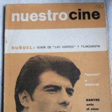 Libros antiguos: NUESTRO CINE. BUÑUEL GUION DE LAS HURDES TIERRA SIN PAN Y FILMOGRAFIA Nº 36 1964 66 PP.. Lote 198017001