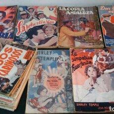 Libros antiguos: 1935 - 20 NÚMEROS DE LA NOVELA SEMANAL CINEMATOGRÁFICA (BISTAGNE) Y BIBLIOTECA FILMS (ALAS). Lote 226452145