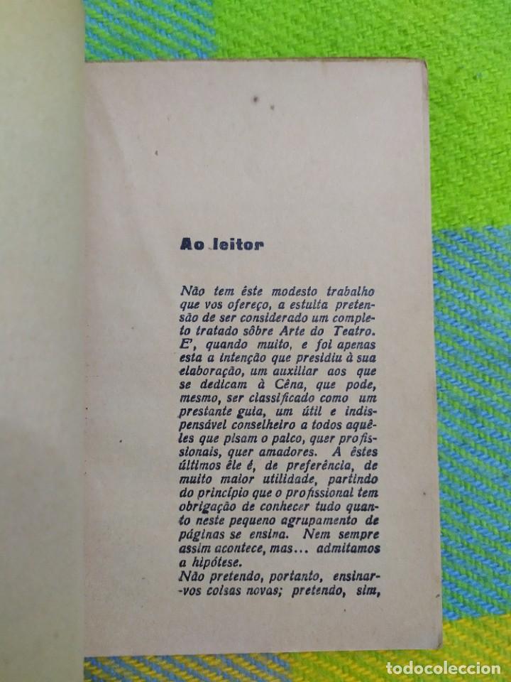 Libros antiguos: 1922. Guia pratico do actor. A. Victor Machado. - Foto 4 - 231565005