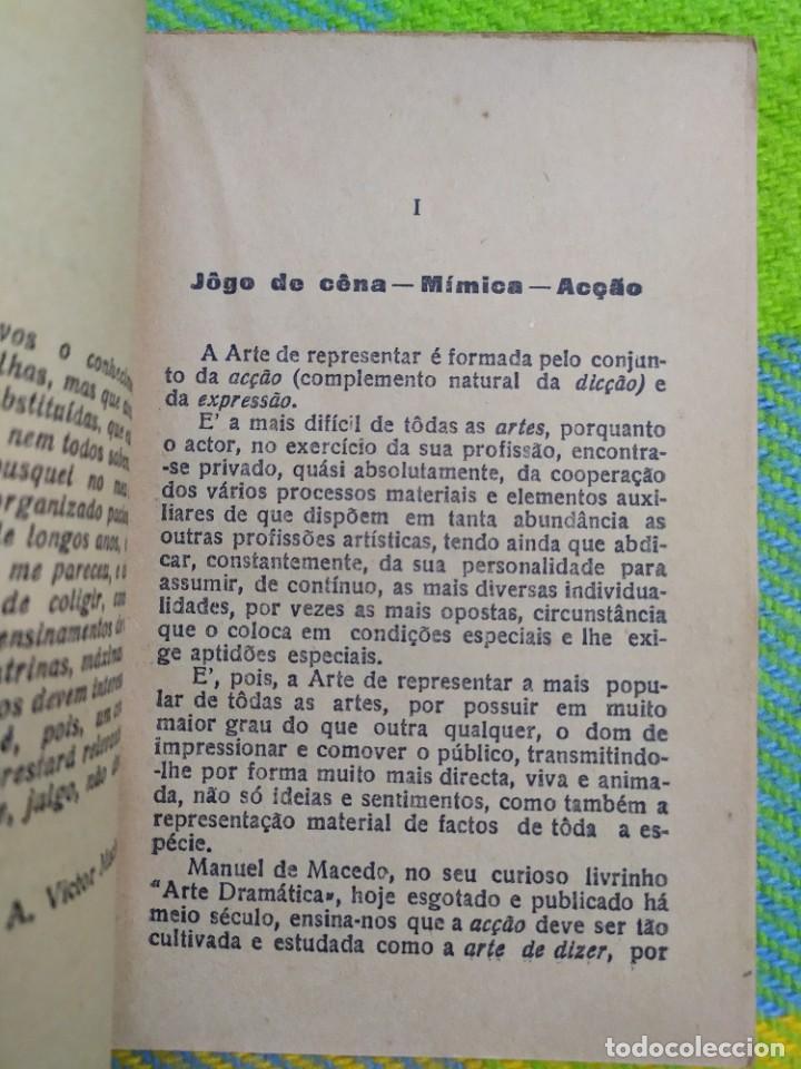 Libros antiguos: 1922. Guia pratico do actor. A. Victor Machado. - Foto 5 - 231565005