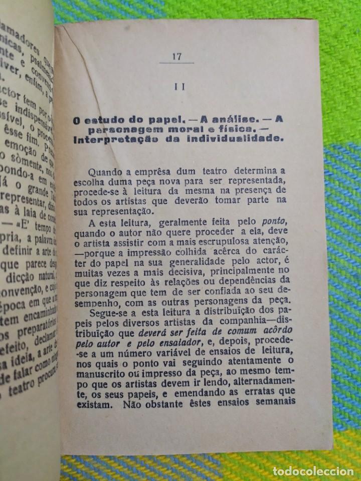 Libros antiguos: 1922. Guia pratico do actor. A. Victor Machado. - Foto 6 - 231565005