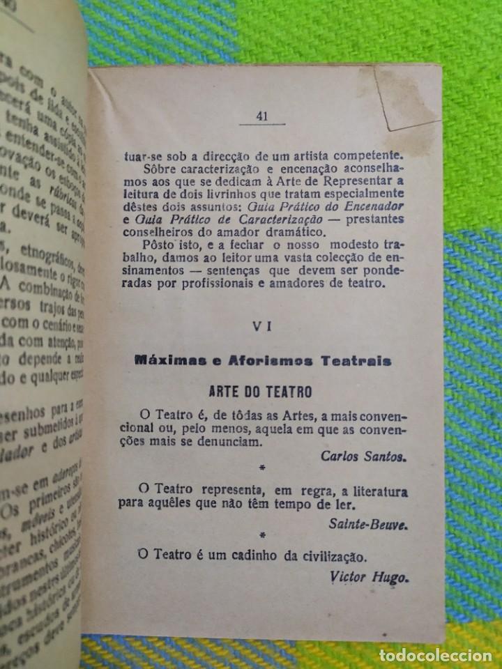 Libros antiguos: 1922. Guia pratico do actor. A. Victor Machado. - Foto 10 - 231565005