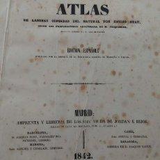 Libros antiguos: ATLAS DE LAMINAS DE PARTOS DE 175 AÑOS DE ANTIGUEDAD. Lote 256000110