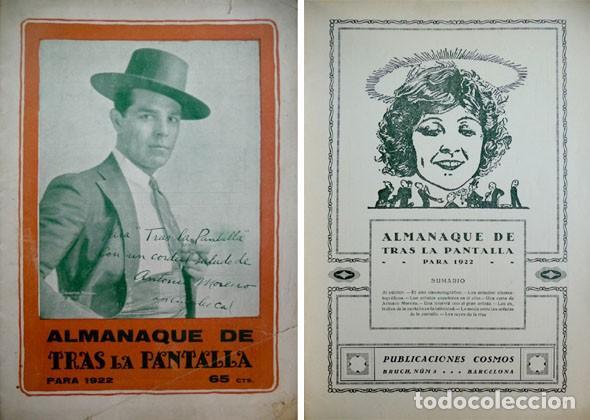 «TRAS LA PANTALLA». ALMANAQUE PARA 1922. 1921. (Libros Antiguos, Raros y Curiosos - Bellas artes, ocio y coleccion - Cine)