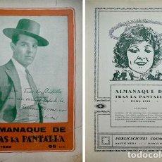 Libros antiguos: «TRAS LA PANTALLA». ALMANAQUE PARA 1922. 1921.. Lote 268297424