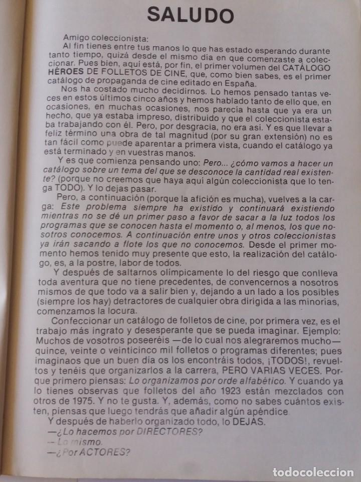 Libros antiguos: LIBRO, CATÁLOGO DE PROGRAMAS DE CINE. HÉROES DE FOLLETOS DE CINE. PRIMER CATÁLOGO EDITADO. - Foto 3 - 286716788