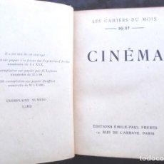 Libros antiguos: CINÉMA LES CAHIERS DU MOIS 16/17 1925 ÉDITIONS ÉMILE-PAUL FRÈRES EX-LIBRIS MONTSERRAT CARULLA. Lote 294955908