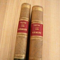 Libros antiguos: LOS ANALES DE CAYO CORNELIO TÁCITO- DOS TOMOS-BIBLIOTECA CLÁSICA-TOMOS XVII Y XVIII-1913 Y 1910.-MAD. Lote 26310601