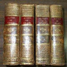 Libros antiguos: CERVANTES-OBRAS-PARIS AÑO 1807 AUTOR DEL QUIJOTE- CUATRO TOMOS PLENA PIEL-. Lote 27479862