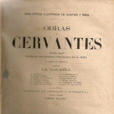 Libros antiguos: OBRAS DE CERVANTES. MADRID : GASPAR Y ROIG, 1866. 27X16CM. 540 P.. Lote 26399738