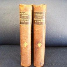 Libros antiguos: EL INGENIOSO HIDALGO DON QUIJOTE DE LA MANCHA - CERVANTES - EDIT. MAUCCI - AÑO 1901 - 2 T- E. GRATIS. Lote 12821677