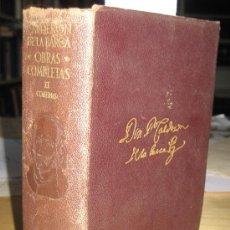 Libros antiguos: AGUILLAR. OBRAS COMPLETAS DE CALDERON DE LA BARCA. TOMO II. COMEDIAS. AÑO 1956.. Lote 26214065