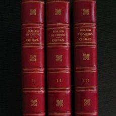 Libros antiguos: OBRAS DE GUILLÉN DE CASTRO Y BELLVIS. TRES VOLS. HOLANDESA PIEL. ¡BIBLIOFILOS!. Lote 26696974