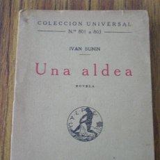 Livros antigos: UNA ALDEA .. POR IVAN BUNIN 1923. Lote 19158564