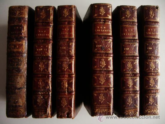 1741-DON QUICHOTTE. DON QUIJOTE. 6 TOMOS EN FRANCÉS. 24 GRABADOS. (Libros antiguos (hasta 1936), raros y curiosos - Literatura - Narrativa - Clásicos)