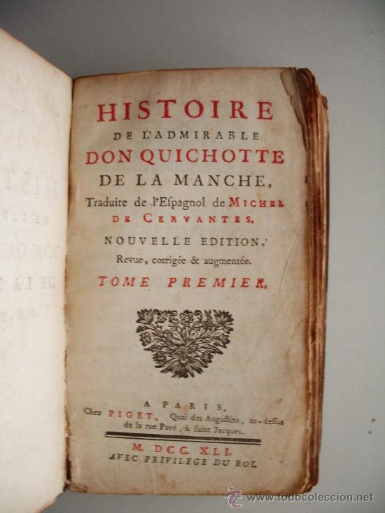 Libros antiguos: 1741-DON QUICHOTTE. DON QUIJOTE. 6 TOMOS EN FRANCÉS. 24 GRABADOS. - Foto 4 - 26363266