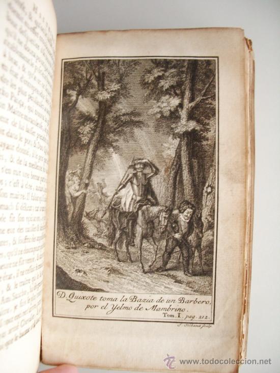 Libros antiguos: 1741-DON QUICHOTTE. DON QUIJOTE. 6 TOMOS EN FRANCÉS. 24 GRABADOS. - Foto 6 - 26363266
