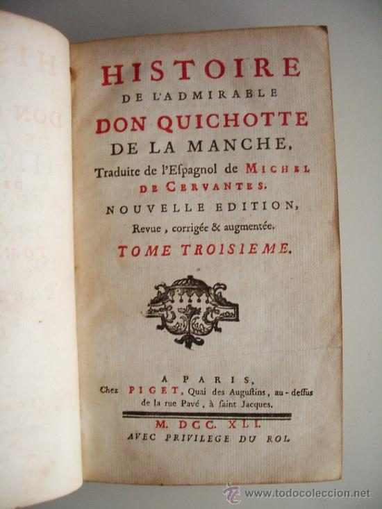 Libros antiguos: 1741-DON QUICHOTTE. DON QUIJOTE. 6 TOMOS EN FRANCÉS. 24 GRABADOS. - Foto 8 - 26363266