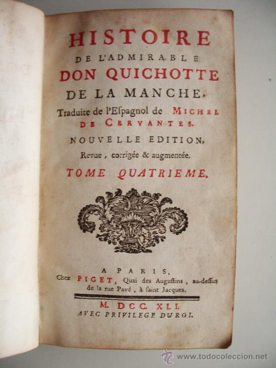 Libros antiguos: 1741-DON QUICHOTTE. DON QUIJOTE. 6 TOMOS EN FRANCÉS. 24 GRABADOS. - Foto 9 - 26363266