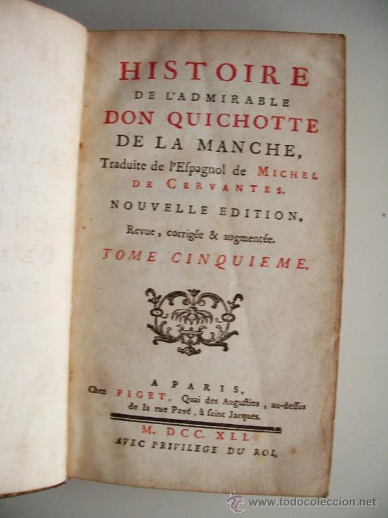 Libros antiguos: 1741-DON QUICHOTTE. DON QUIJOTE. 6 TOMOS EN FRANCÉS. 24 GRABADOS. - Foto 10 - 26363266