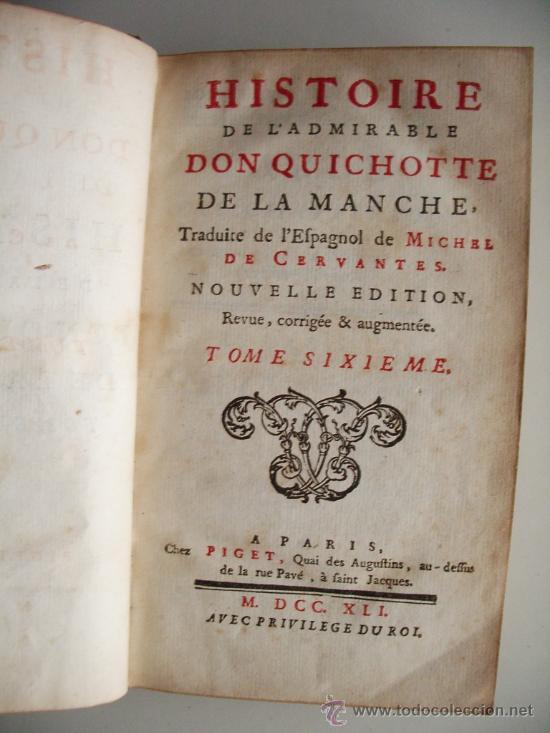 Libros antiguos: 1741-DON QUICHOTTE. DON QUIJOTE. 6 TOMOS EN FRANCÉS. 24 GRABADOS. - Foto 11 - 26363266