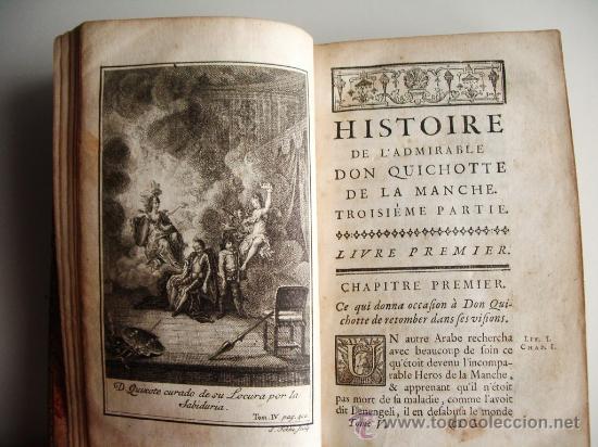 Libros antiguos: 1741-DON QUICHOTTE. DON QUIJOTE. 6 TOMOS EN FRANCÉS. 24 GRABADOS. - Foto 12 - 26363266