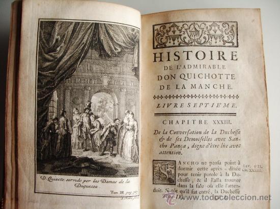 Libros antiguos: 1741-DON QUICHOTTE. DON QUIJOTE. 6 TOMOS EN FRANCÉS. 24 GRABADOS. - Foto 13 - 26363266