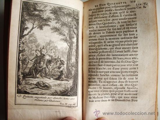 Libros antiguos: 1741-DON QUICHOTTE. DON QUIJOTE. 6 TOMOS EN FRANCÉS. 24 GRABADOS. - Foto 15 - 26363266
