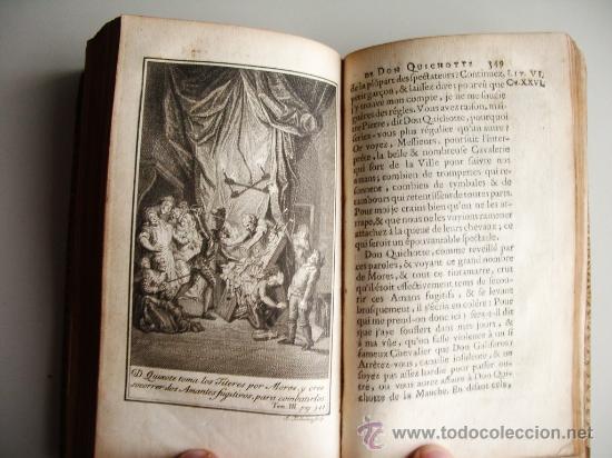 Libros antiguos: 1741-DON QUICHOTTE. DON QUIJOTE. 6 TOMOS EN FRANCÉS. 24 GRABADOS. - Foto 16 - 26363266