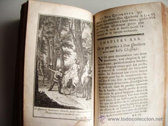 Libros antiguos: 1741-DON QUICHOTTE. DON QUIJOTE. 6 TOMOS EN FRANCÉS. 24 GRABADOS. - Foto 17 - 26363266