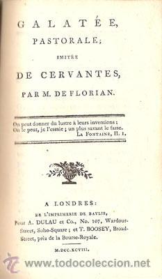 Libros antiguos: CERVANTES – GALATEA – Año 1798 - Foto 3 - 27441924