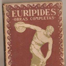 Libros antiguos: 2002 - EURIPIDES OBRAS COMPLETAS - TOMO I - PROMETEO VALENCIA. Lote 21856222