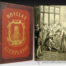 Libros antiguos: 1881 - OBRAS DE CERVANTES - LAMINAS - GALATEA - PARNASO - NOVELAS . Lote 22257694