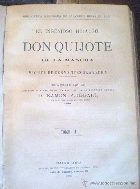 Libros antiguos: QUIJOTE DE LA MANCHA (1881) - Foto 4 - 27292413