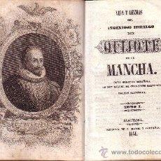 Libros antiguos: VIDA Y HECHOS DEL INGENIOSO HIDALGO DON QUIJOTE DE LA MANCHA. 3 VOLS. BARCELONA, 1841. Lote 26406125
