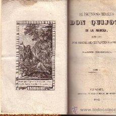 Libros antiguos: EL INGENIOSO HIDALGO DON QUIJOTE DE LA MANCHA. 4 VOLS, 2 TOMOS. ZARAGOZA, 1832. Lote 26406126