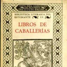 Libros antiguos: LIBROS DE CABALLERÍAS. Lote 27368140