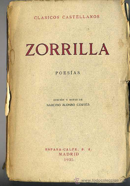 CLÁSICOS CASTELLANOS . ZORRILLA : POESÍAS (1935) (Libros antiguos (hasta 1936), raros y curiosos - Literatura - Narrativa - Clásicos)