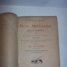 Libros antiguos: DON QUIJOTE DE LA MANCHA - AGUSTIN JUBERA EDITOR 1887 -AUMENTADA CON EL BUSCAPIE. Lote 31660647