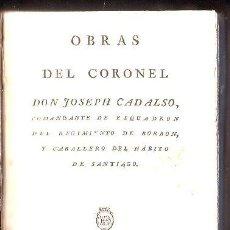 Libros antiguos: JOSÉ CADALSO,CARTAS MARRUECAS,SENSACIONAL EDICIÓN TEMPRANA,1803,MADRID,REPULLÉS,RARA!!!!!. Lote 27817412