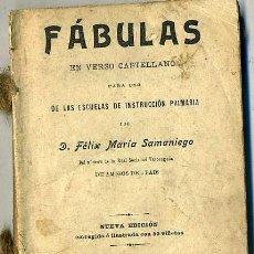 Libros antiguos: SAMANIEGO : FÁBULAS EN VERSO CASTELLANO (1908). Lote 27835333