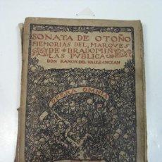 Libros antiguos: SONATA DE OTOÑO. RAMON DEL VALLE INCLAN. VOL VII RENACIMIENTO. 1924. Lote 28013567