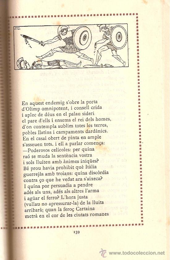 Libros antiguos: ENEIDA / VIRGILI / TRADUCCIÓ MOSSEN LLORENÇ RIBER/ VOLUM II / EDITORIAL CATALANA 1918 - Foto 4 - 28446317