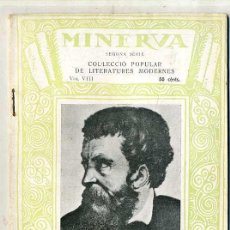 Libros antiguos: DE LA VITA DE BENVENUTO CELLINI (MINERVA, 1920) - EN CATALÁN. Lote 28465240