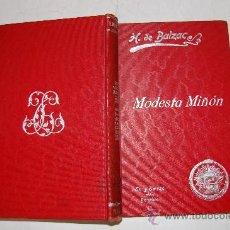 Libros antiguos: MODESTA MIÑÓN. H. DE BALZAC. RM54234. Lote 28677198