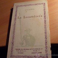 Libros antiguos: LA LOCANDIERA ( GOLDONI ) CIEN MEJORES OBRAS DE LITERATURA ESPAÑOLA Nº 49 ( LE3). Lote 28837166