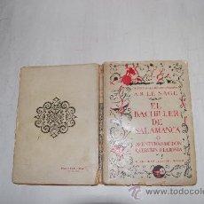 Libros antiguos: EL BACHILLER DE SALAMANCA O AVENTURAS DE DON QUERUBÍN DE LA RONDA.A. R. LE SAGE . RM54685. Lote 28970017