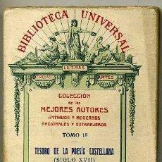 Libros antiguos: TESORO DE LA POESÍA CASTELLANA TOMO II - SIGLO XVII (1928). Lote 29333917